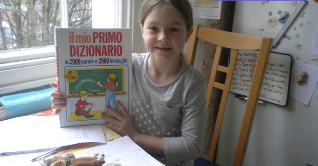 Child learning Italian in Bristol with Marinella