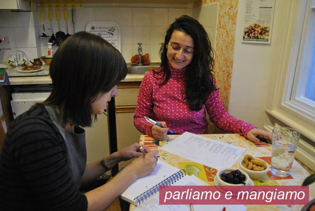 Italina lesson in Bristol. Marinella student